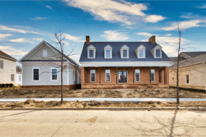 custom home builder in columbus coppertree homes builds new albany custom homes front view